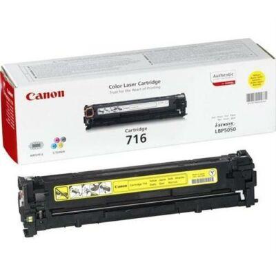 Canon CRG-716 Y (sárga) eredeti toner (crg716) (≈1500 oldal)
