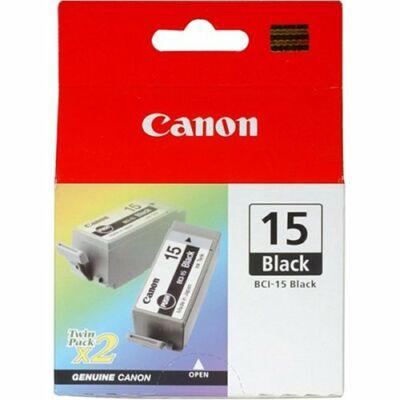 Canon® BCI-15BK eredeti fekete tintapatron, ~350 oldal (bci15)