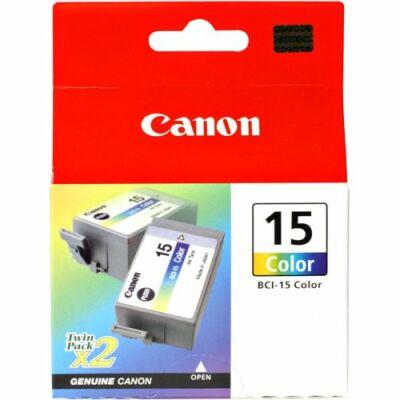 Canon® BCI-15C eredeti színes tintapatron, ~100 oldal (bci15)