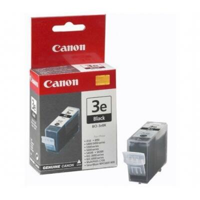Canon® BCI-3eBK eredeti fekete tintapatron, ~680 oldal (bci3 vastag fekete)