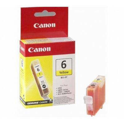 Canon® BCI-6Y eredeti sárga tintapatron, ~420 oldal (bci6)