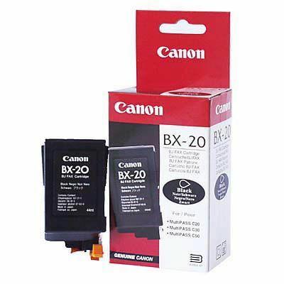 Canon® BX-20 eredeti fekete tintapatron, ~1200 oldal (bx20)
