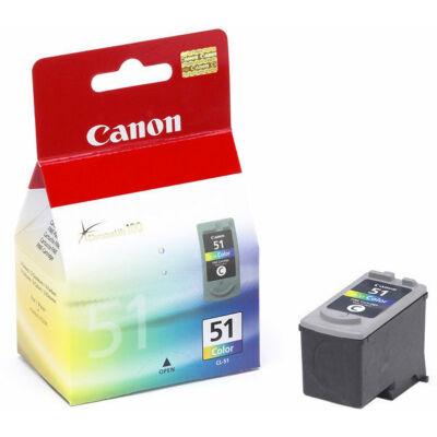 Canon® CL-51 eredeti színes tintapatron, ~400 oldal (cl51)