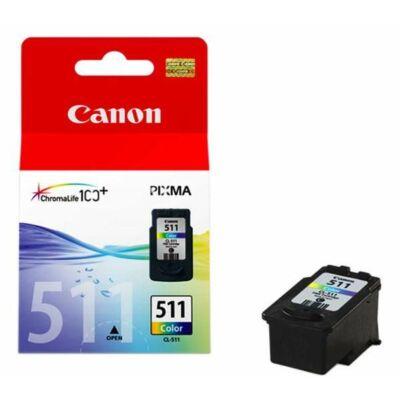 Canon® CL-511 eredeti színes tintapatron, ~245 oldal (cl511)