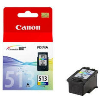 Canon® CL-513 eredeti színes tintapatron, ~350 oldal (cl513)