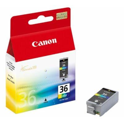 Canon® CLI-36 eredeti színes tintapatron, ~110 oldal (cli36)
