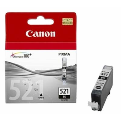 Canon® CLI-521Bk eredeti fekete tintapatron, ~300 oldal (cli521 vékony fekete)