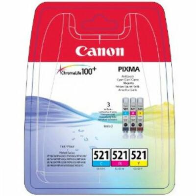Canon® CLI-521CMY eredeti (cián-magenta-sárga) tintapatron multipakk, ~3x300 oldal (cli521)