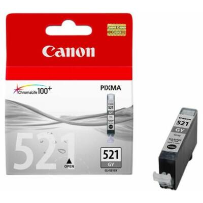 Canon® CLI-521GY eredeti szürke tintapatron, ~300 oldal (cli521)
