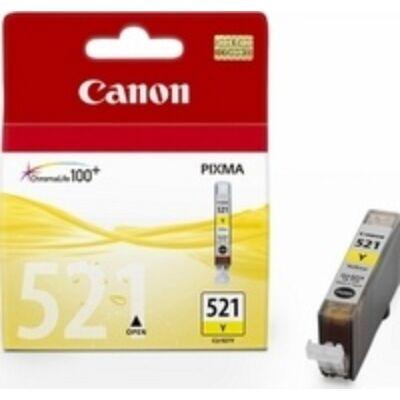 Canon® CLI-521Y eredeti sárga tintapatron, ~300 oldal (cli521)
