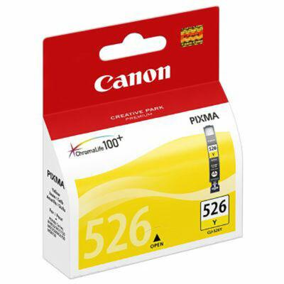 Canon® CLI-526Y eredeti sárga tintapatron, ~450 oldal (cli526)