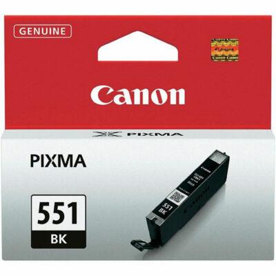 Canon® CLI-551BK eredeti fekete tintapatron, ~300 oldal (cli551 vékony fekete)