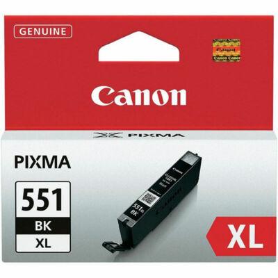 Canon® CLI-551BK XL eredeti fekete tintapatron, ~660 oldal (cli551xl vékony fekete)