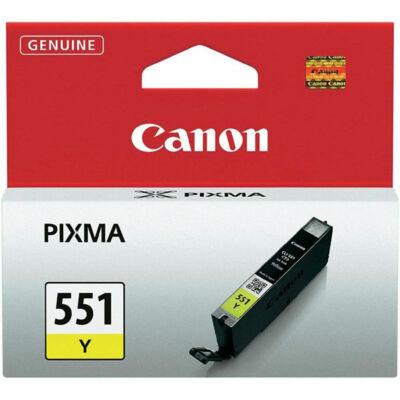 Canon® CLI-551Y eredeti sárga tintapatron, ~300 oldal (cli551)