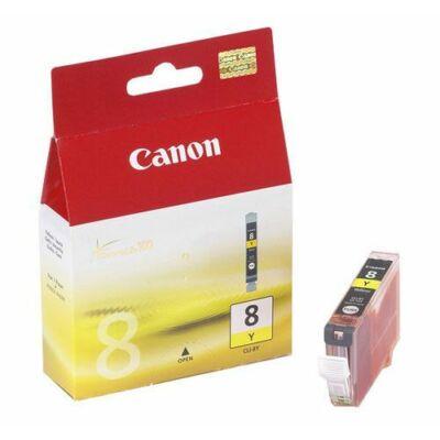 Canon® CLI-8Y eredeti sárga tintapatron, ~500 oldal (cli8)