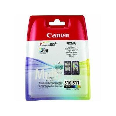 Canon® PG-510/CL-511 eredeti (fekete+színes) tintapatron multipakk, ~220/245 oldal (pg510cl511)