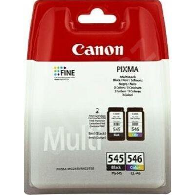 Canon® PG-545/CL-546 eredeti (fekete+színes) tintapatron multipakk, ~180/180 oldal(pg545cl546)