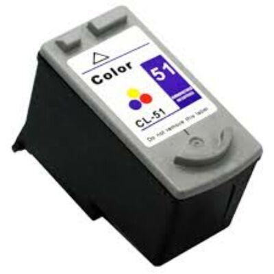 Canon -hoz CL-51 kompatibilis tintapatron (színes)CL51
