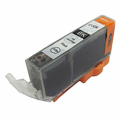Canon nyomtatókhoz CLI-526 Bk (fekete) utángyártott tintapatron !CHIPES! (cli526bk)