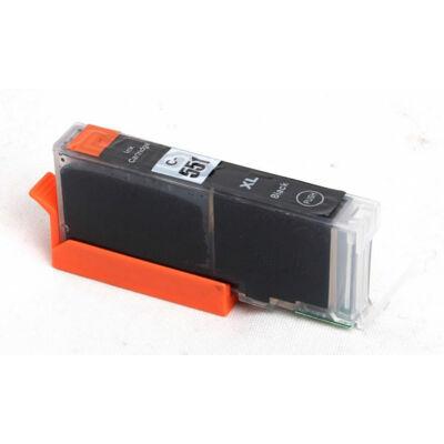 Canon nyomtatóhoz CLI-551XL Bk (fekete) utángyártott !CHIPES! tintapatron