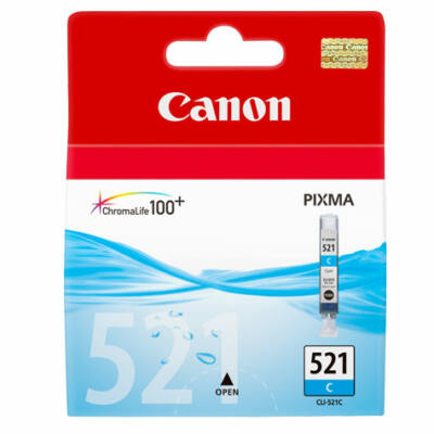 Canon® CLI-521C eredeti cián tintapatron, ~300 oldal (cli521)