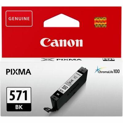Canon® CLI-571BK eredeti fekete tintapatron, ~376 oldal  (cli571 vékony fekete)