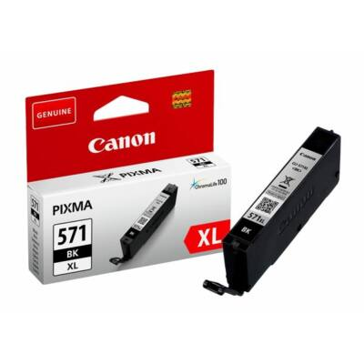 Canon® CLI-571BK XL eredeti fekete tintapatron, ~810 oldal (cli571xl vékony fekete)