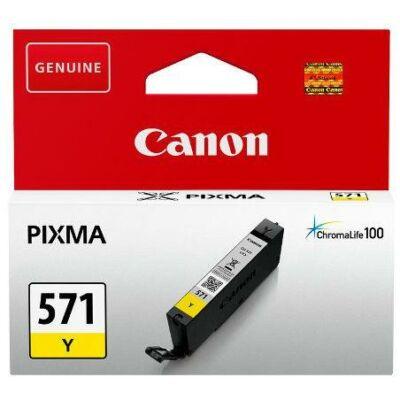 Canon® CLI-571Y eredeti sárga tintapatron, ~347 oldal (cli571)