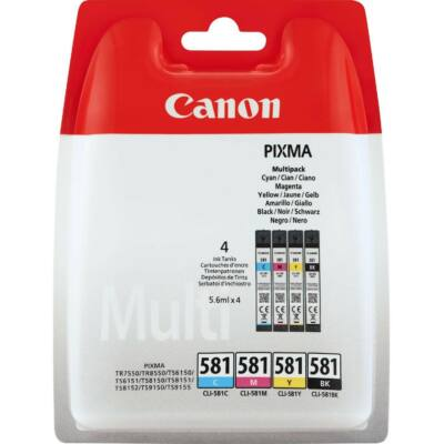 Canon® CLI-581 BCMY eredeti 4db-os tintapatron multipakk