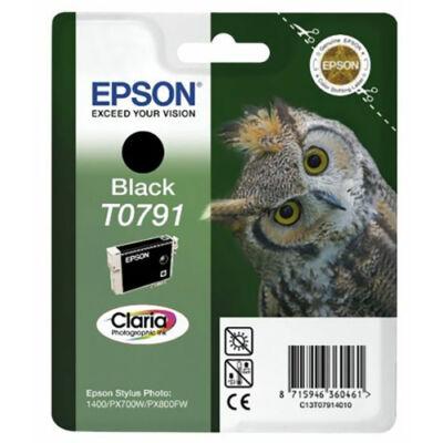 Epson T0791 bk (fekete) eredeti  tintapatron (to791) (≈350oldal)