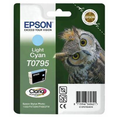 Epson T0795 lc (világos cián) eredeti  tintapatron (to795) (≈350oldal)