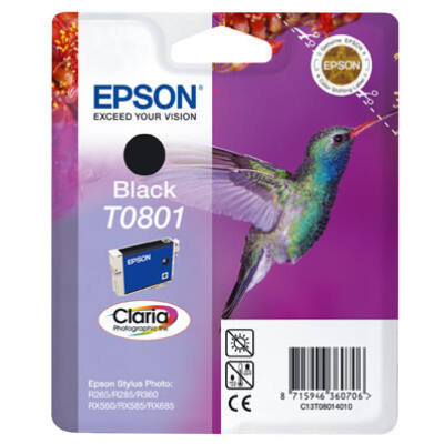 Epson T0801 (BK) fekete eredeti tintatintapatron to801 (≈240oldal)