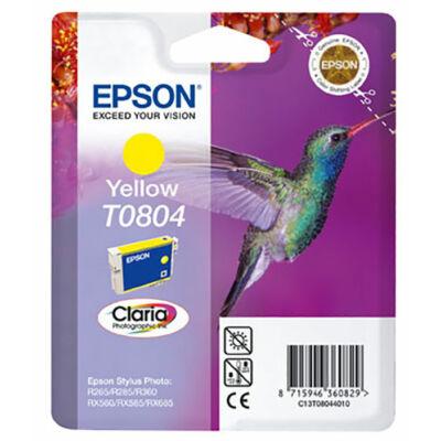 Epson T0804 (Y) sárga eredeti tintapatron (to804) (≈240oldal)