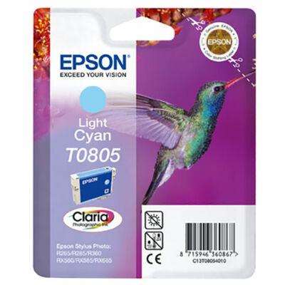 Epson T0805 (LC) világos cián eredeti tintapatron (to805) (≈240oldal)