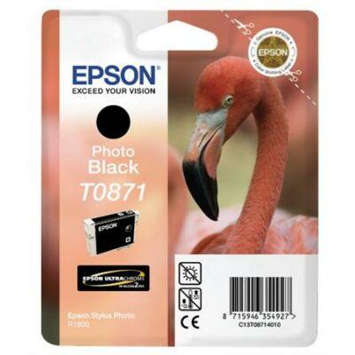 Epson T0871 PBK fotofekete eredeti tintapatron (To87) (≈350oldal)