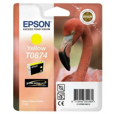 Epson T0874 Y sárga eredeti tintapatron (To87) (≈350oldal)