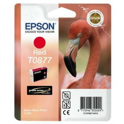 Epson T0877 R piros eredeti tintapatron (To87) (≈350oldal)