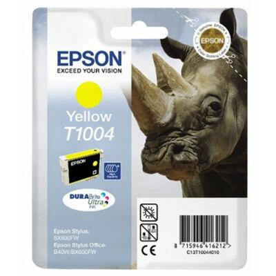 Epson T1004 Y (sárga) eredeti tintapatron (≈350oldal)
