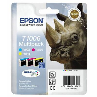 Epson T1006 CMY (3szín) eredeti tintapatron pakk (≈1050oldal)