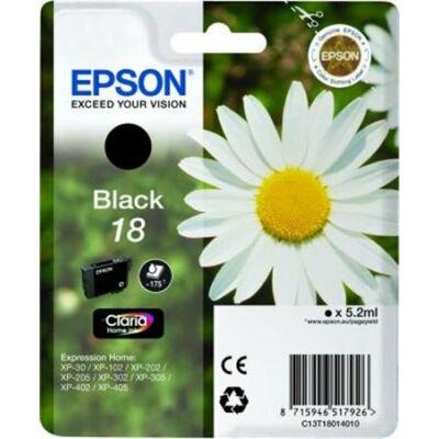 Epson T18014010 (Nr.18) eredeti fekete tintapatron (≈175oldal)