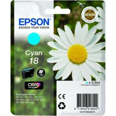Epson T18024010 (Nr.18) eredeti cián tintapatron (≈180oldal)