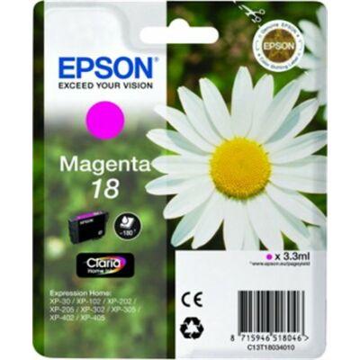 Epson T18034010 (Nr.18) eredeti magenta tintapatron (≈180oldal)