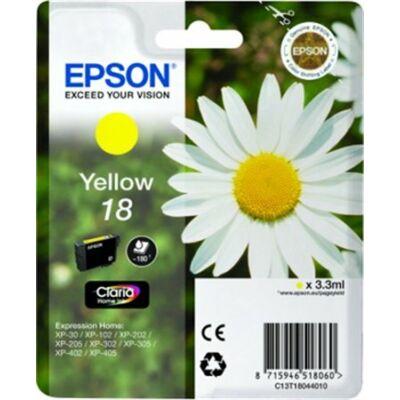 Epson T18044010 (Nr.18) eredeti sárga tintapatron (≈180oldal)