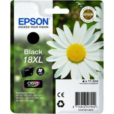 Epson T18114010 (Nr.18) XL eredeti fekete tintapatron (≈470oldal)