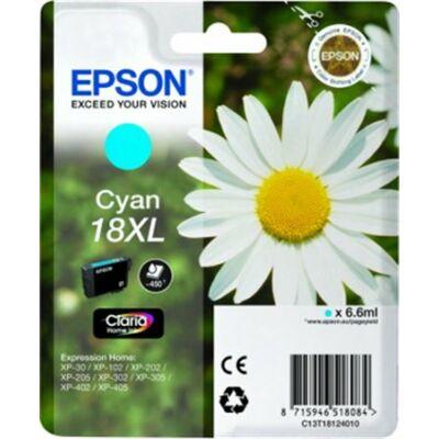 Epson T18124010 (Nr.18) XL eredeti cián tintapatron (≈450oldal)