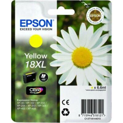 Epson T18144010 (Nr.18) XL eredeti sárga tintapatron (≈450oldal)