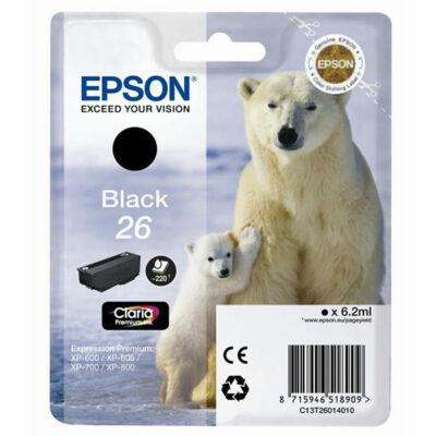 Epson T26014010 (26) eredeti fekete tintapatron (≈220oldal)