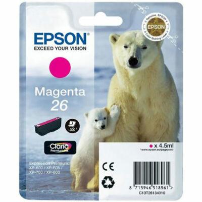 Epson T26134010 (26) eredeti magenta tintapatron (≈300oldal)