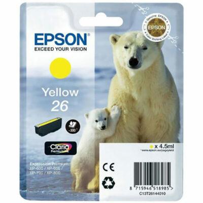 Epson T26144010 (26) eredeti sárga tintapatron (≈300oldal)
