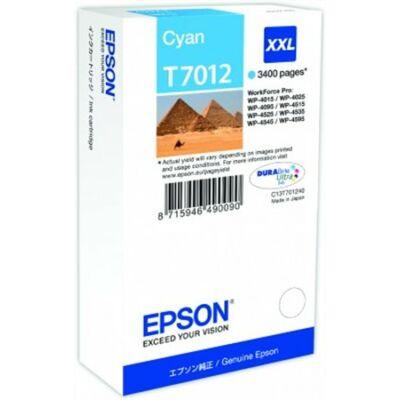 Epson T7012 C XXL eredeti tintapatron (cián) 3400 oldalas! (≈3400oldal)